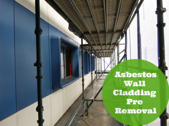 School Wall Cladding Pre Asbestos Removal